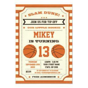 Basketball Birthday Party Invitation