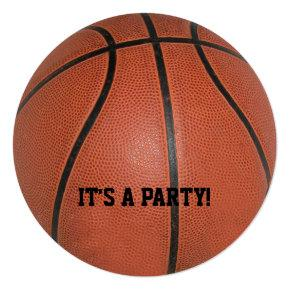 Basketball Personalized Round Party