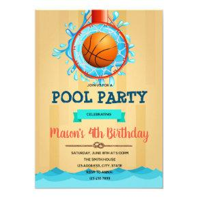 Basketball Pool Party invitation