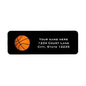 Basketball Sports Party Invitation Address Labels