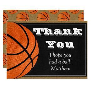 Basketball Thank You Card for B-ball Players