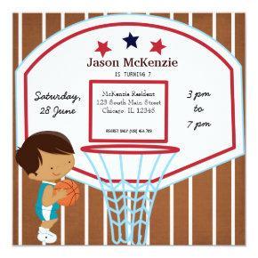 Basketball theme invitation