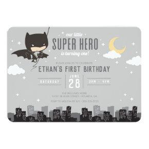 Batman Super Hero First Birthday Invitation