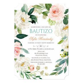 Bautizo Niña Invitacione De bautizo Niña Baptism Invitation