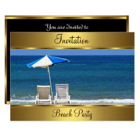 Beach 50th Birthday Party Invitations
