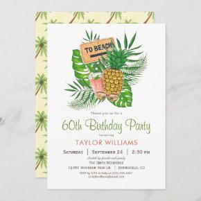 Beach Birthday Party Invitation