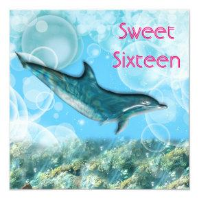 Dolphin party birthday invitations candied clouds beach birthday party tropical dolphin invitations filmwisefo