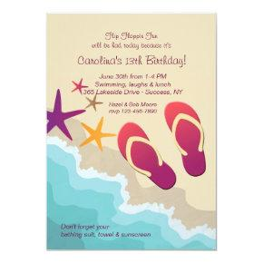 Beach Flip Flops Invitations