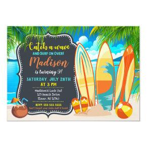 Beach Party Birthday Invitations, Summer Party Invitations