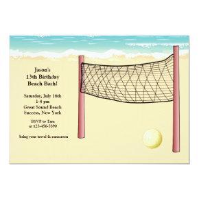 Beach Volleyball Invitations