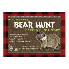 Bear Hunt Adventure Party Invitation