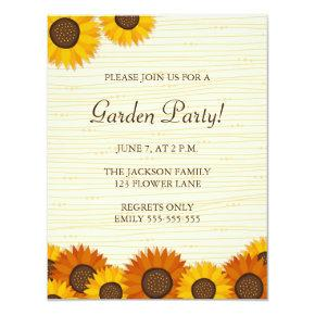 sunflower birthday invitations candied clouds