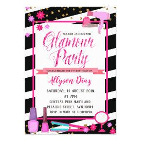 Beauty Queen Glamour Party Birthday Invitation