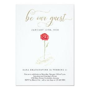 Be Our Guest Birthday Invitations Candied Clouds