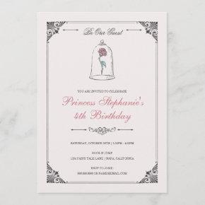 Beauty & the Beast | Enchanted Rose Birthday Invitation