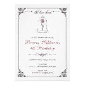 Beauty & the Beast | Enchanted Rose Birthday Invitation