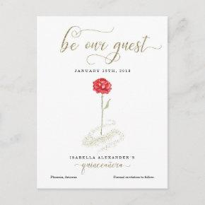 Beauty & the Beast Quinceañera Save the Date Announcement Post