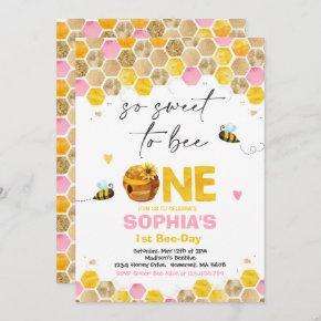 Bee Birthday Invitation Honey Bee Birthday Party