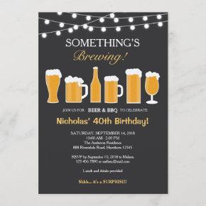 Beer Birthday Invitation, Adult Birthday Invitation