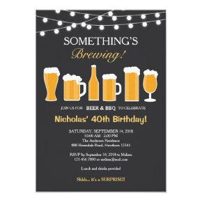 Beer Birthday Invitations, Adult Birthday Invitations
