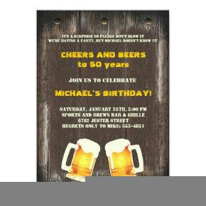 Beer Cheers Invitations