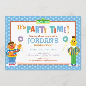 Bert and Ernie Birthday Invitation