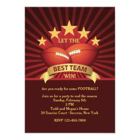 Best Team Football Party Invitation