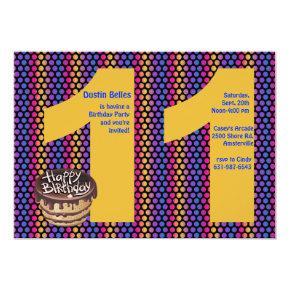 Big 11 Birthday Party Invitations