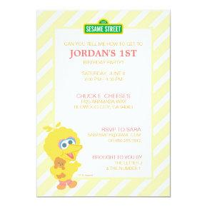 Big Bird Baby Birthday Invitation