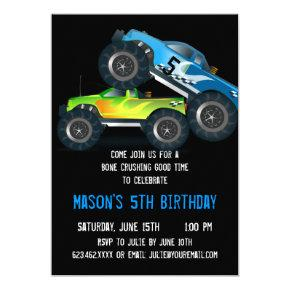 Big Blue Monster Truck Birthday Party