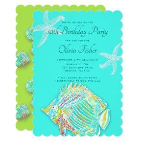 Big Fish Kids Sea Birthday Party Invitation