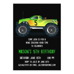 Big Green Monster Truck Birthday Party