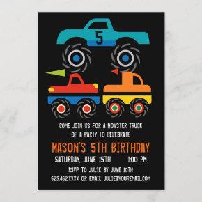 Big Monster Trucks Birthday Party
