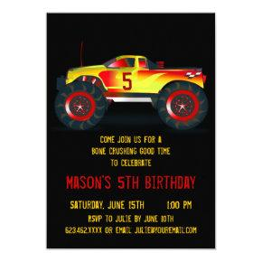 Big Red Monster Truck Birthday Party