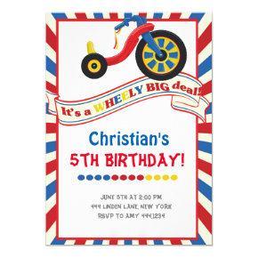 Big Wheel Boy Birthday Party