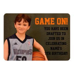 Birthday Basketball Sports Invitation