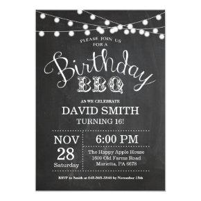 Birthday BBQ Invitation 16th Birthday Chalkboard