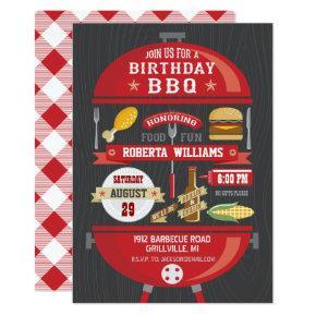 Birthday BBQ Party Invitations