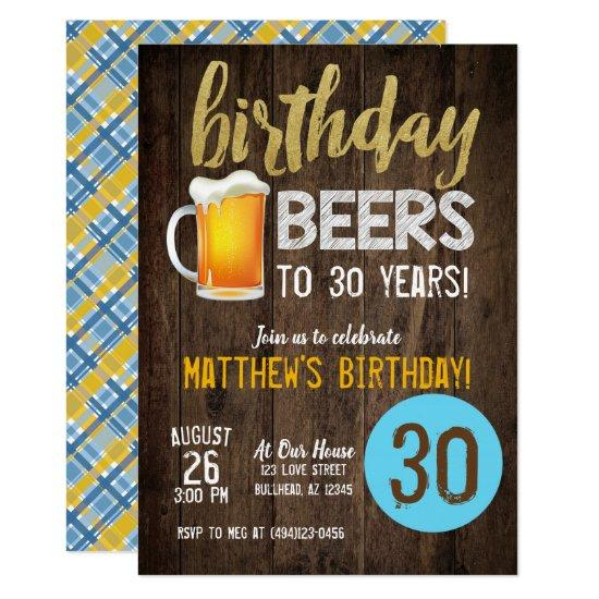 birthday beers mens birthday invitations candied clouds