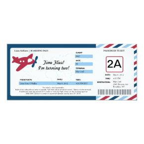 Birthday Boarding Pass Ticket Card