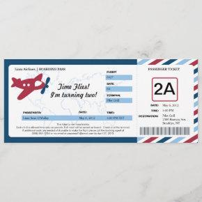 Birthday Boarding Pass Ticket Invitation