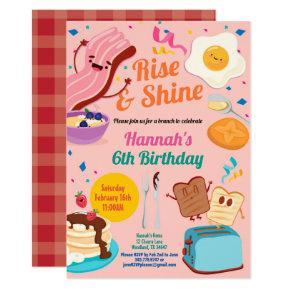 Birthday brunch invitation. Rise and shine girl Invitation