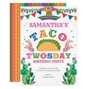 Birthday Fiesta, Taco Twosday, 2nd birthday Invitation