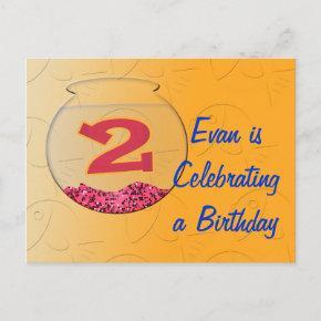 Birthday Fishes Invitations