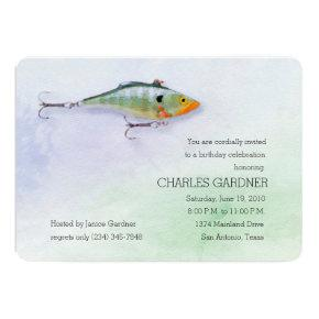 Birthday Fishing Theme Lure Card