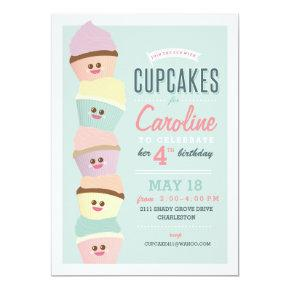 Birthday Invitation // Cupcake Party