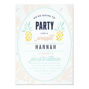 BIRTHDAY Invitations - PARTY LIKE A PINEAPPLE