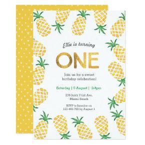 Birthday Invitations | tropical pineapple