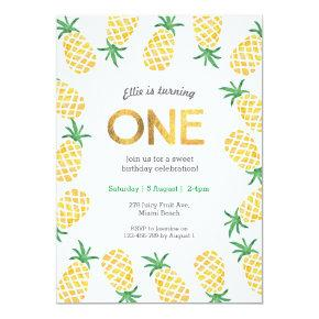 Birthday Invitation | tropical pineapple