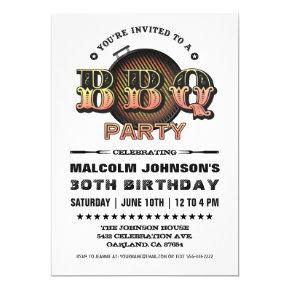 Birthday Invitations | BBQ Party